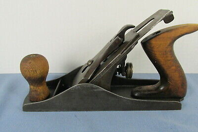 """Antique 9-1/4"""" Smooth Bottom STEEL BLOCK PLANE with 2"""" FULTON Blade"""