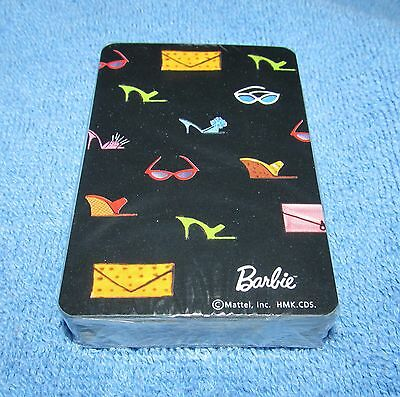 BARBIE Hallmark BLACK DECK OF PLAYING CARDS SHOES SUNGLASSES NEW MATTEL