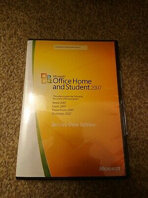 Microsoft Office Home And Student 2007 Full Service Desk Edition & Product Key