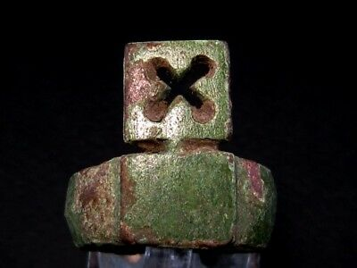 Attractive Roman Bronze Key-Ring, As Found Condition+++