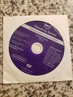 NEW DELL Windows 10 Pro 64Bit OS Restore Recovery OEM DVD Disc
