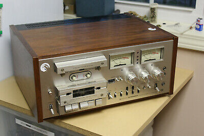 Beautiful Vintage Pioneer CT-F1000 Cassette Deck with Wood Case