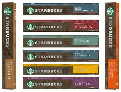 Starbucks House Blend/Blonde Espresso/ Colombia/Sumatra Coffee Pods 10 Pack 57G