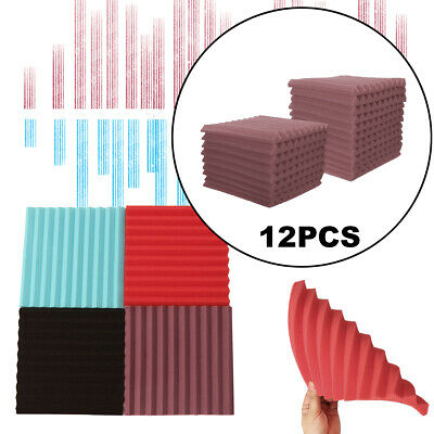 "48Pcs 10""x10''x1'' Foam Acoustic Panels Soundproofing Studio Wedge"
