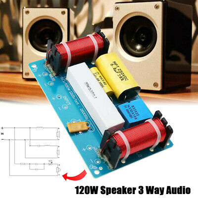Ajustable Treble Bass Frequency Divider 3 Way Speaker Audio Crossover Filters AU