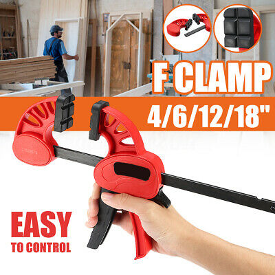 100mm-600mm 2Pcs F Clamps Quick Grip Heavy Duty Ratchet Clamp