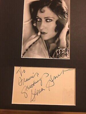 "Gloria Swanson Signed Card ""Sunset Boulevard"" Actress"