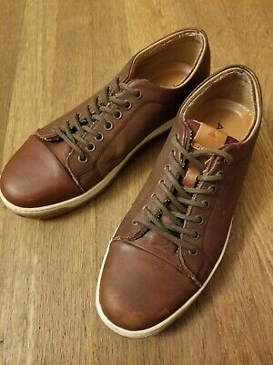 Excellent Aldo Cognac Leather Shoes Sneakers Size 9.5 worn less than a week