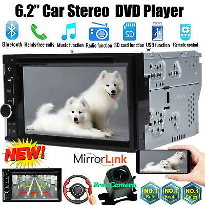 """For Sony Lens Car Stereo DVD CD Player 6.2""""Bluetooth Radio SD/USB In-Dash+Camera"""