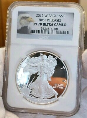 2012 W American Silver Eagle Pf 70 Ultra Cameo! Jaw Dropping Mirrors!! Wow!!