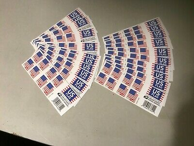 500 NEW USPS Forever Stamps (25 books) 2018 Flag FREE Shipping GREAT VALUE!