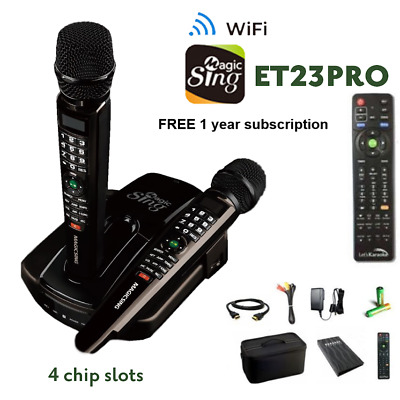 2019 ET23PRO WIFI Magic Sing Karaoke Mic +12K ENG + 1YR Tagalog Hindi Spanish