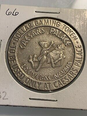 CAESARS PALACE $1 TOKEN Casino Chip Las Vegas Nevada 3.99 Shipping