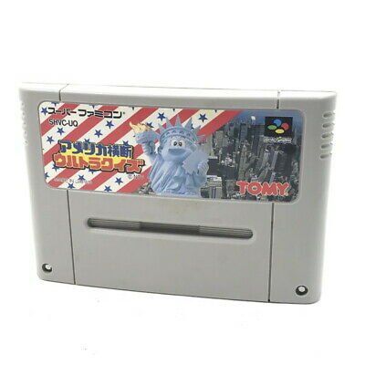 America Oudan Ultra Quiz Nintendo Super Japan import Game Cartrige Only SNES