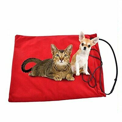 Cozipet Heated Pet Pad Bed Electric Cat Dog Warmer Puppy Mat Red Fleece Cover
