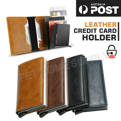 RFID Blocking Wallet Leather Credit Card Holder Money Cash Purse Mens Clip