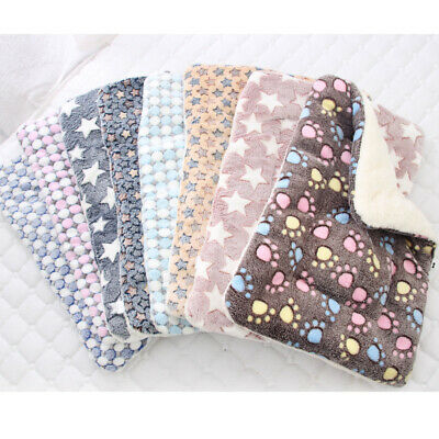 Dog Cat Puppy Pet Plush Blanket Mat Warm Sleeping Soft Bed Blankets Supplies