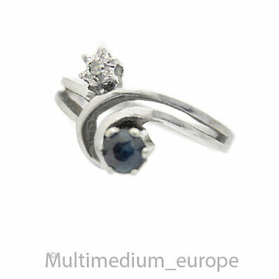 585 Weißgold Ring Safir Diamant Saphir white gold diamond sapphire 🌺🌺🌺🌺🌺