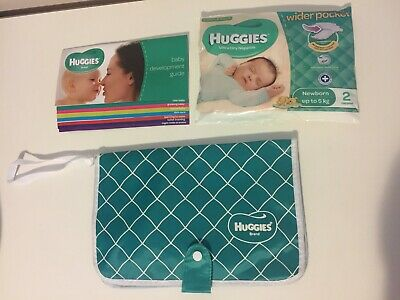 NEW Huggies Bag Clutch Handle Pouch For Wipes Nappy Travel Portable On The Go