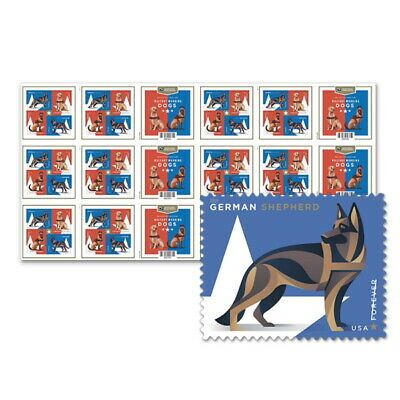 USPS New Military Working Dogs Press Sheet