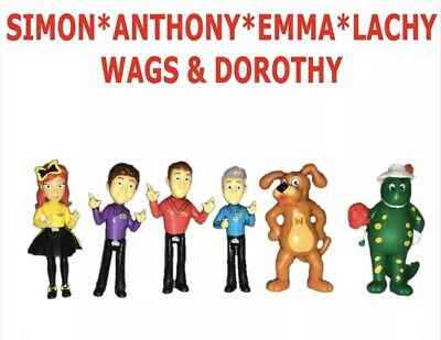 The Wiggles 6 Pack Figurine Set Simon Anthony Emma Lachy Figures Cake Toppers
