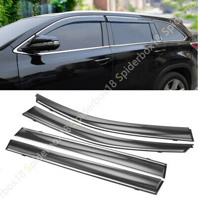 For Toyota Highlander 2015-2019 Side Window Visor Vent Shade Rain Sun Deflector
