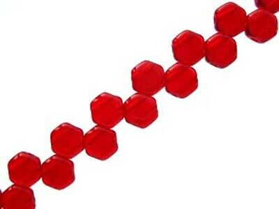 Pack of 30 6mm L48//5 Czech Glass Honeycomb 2 Hole Beads Chalk Red Luster