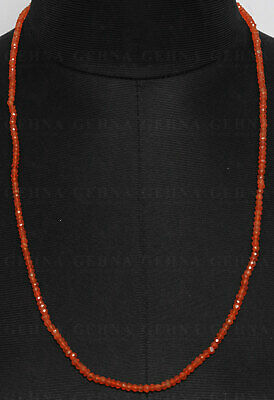 Carnelian Gemstone Faceted Bead Necklace NS1437