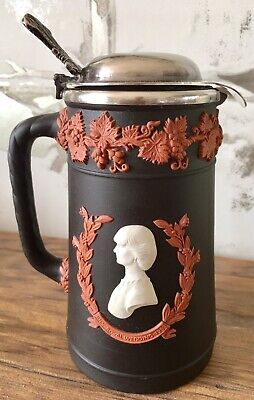 Wedgwood Tri Colour Black Terracotta Charles & Diana Royal Wedding1981 Jug