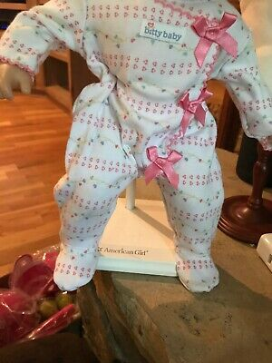 American Girl Doll Bitty Baby Pink Bow Sleeper- New