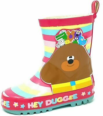 Kids Childrens Girls Hey Duggee Wellies Snow Rain Wellington Boots Size 5-10