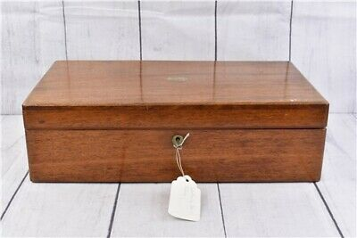 Vintage/Antique Wooden Writing Box - Lockable, Internal Shelf's and Compartments