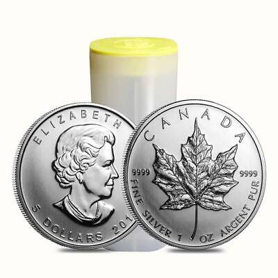 Lot of 10 X 1oz Silver Canadian Maple Leaf 2011 + Plastic Roll