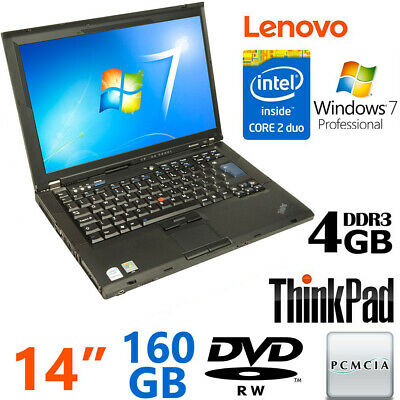 Pc Portatile Notebook Lenovo Thinkpad T400 Core Duo 4Gb 160Gb Pcmcia Windows 7