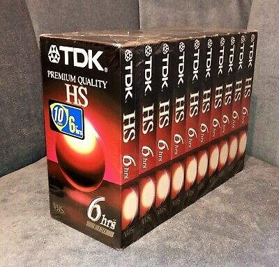 Free Priority! New Sealed TDK HS T-120 VHS Video Tape 10 Pack