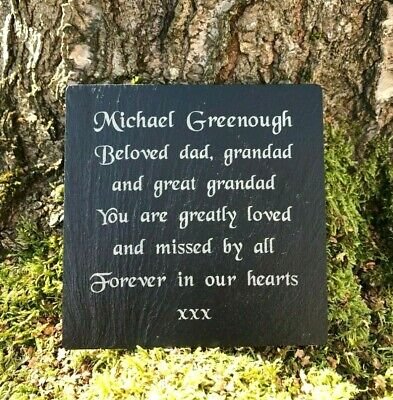 Personalised Engraved Slate Memorial Headstone Grave Marker Remembrance Plaque