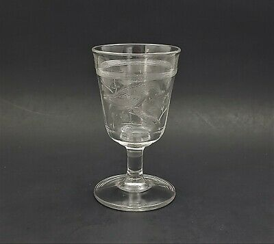 Antique EAPG Cardinal (Bird) Goblets Pressed Colorless Clear Glass