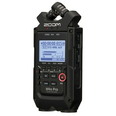 Zoom H4n Pro Handy Recorder - All Black