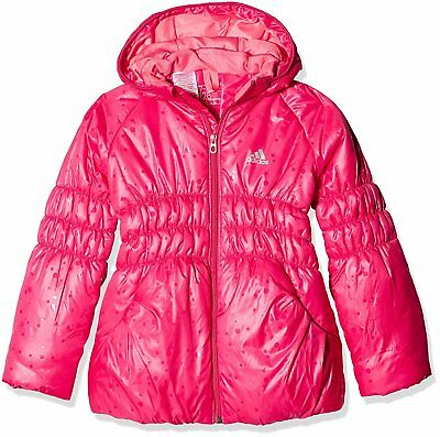 adidas jacket girls full top pink zip AB4682
