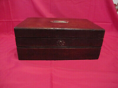 Antique 168 Year Old Military Campaign Leather Bound Writing Slope