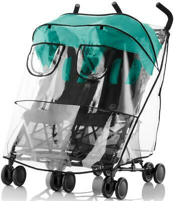 Britax HOLIDAY DOUBLE PUSHCHAIR RAINCOVER Twin Buggy Travel Accessory BNIP