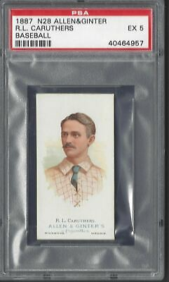 Allen & Ginter - The World's Champions N28 - R L Caruthers, Baseball - Psa 5