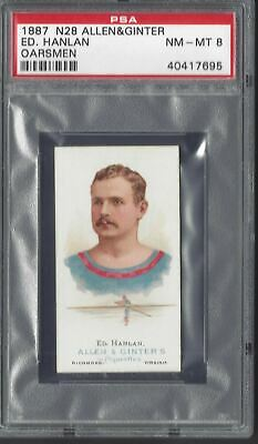 Allen & Ginter - The World's Champions N28 - Ed Hanlan, Oarsman - Psa 8