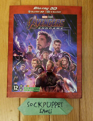 Avengers: ENDGAME (2019) 2D Blu-ray + Bonus Disc with Slipcover - Region Free