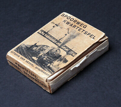 Spoorweg Kwartetspel Kartenspiele Dutch Railways Playing Cards