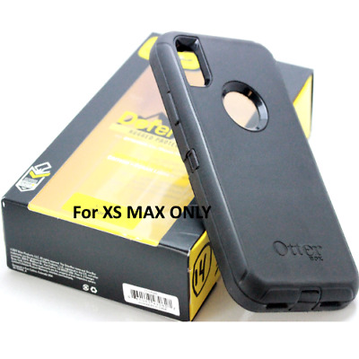 New OtterBox DEFENDER SERIES Case Cover For iPhone XS MAX - Black (Without Clip)