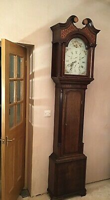 antique longcase grandfather clock By Jn Blaylock of Long Town