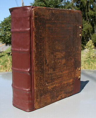 1730 antique Holy Bible **professionally restored** 289 yrs. old!! BEAUTIFUL