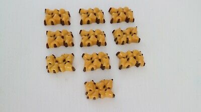 Playmobil food SET OF FOUR IDENTICAL CLUSTERS OF YELLOW PEARS W// BROWN STEMS