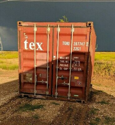 Used 20' Dry Van Steel Storage Container Shipping Cargo Conex Seabox Atlanta